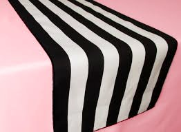 Pink Black and White Paris Theme Bridal Shower Table Décor Makes Party Planning Simple Includes Black and White Striped Runner and Light Pink (Black & White Party Theme)