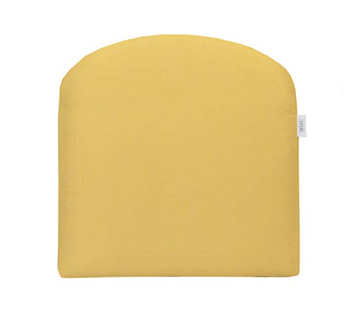 RSH Décor Indoor ~ Outdoor Sunbrella Canvas Buttercup Foam Contor U-Shape Chair Cushion ~ Yellow (18