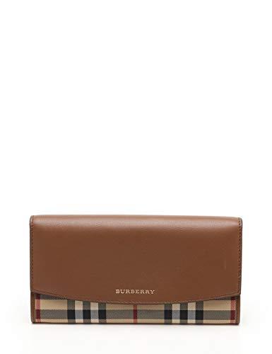 ebd6f0e051e3 Amazon.co.jp: (バーバリー) BURBERRY 二つ折り長財布 チェック柄 キャンバス レザー 茶 ベージュ 赤 中古: 服&ファッション 小物