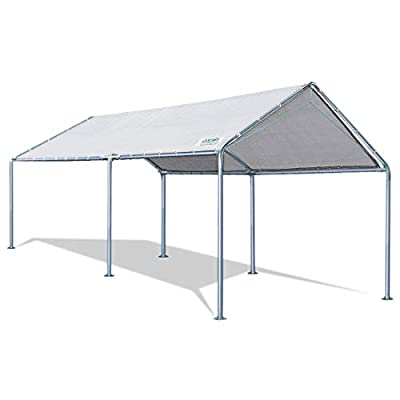 Quictent 20'X10' Upgraded Heavy Duty Carport Car Canopy Party Tent (10'x20' Upgraded)