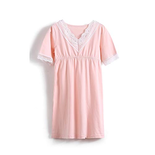 Kids Girls' Lace Nightgowns Princess Sleep Shirts Personalized Loungewear Pink 6t ()