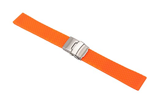 ge Silicone Replacement Band Bracelet for Sport Watches with Folded Clasp Safety ()