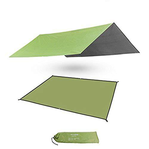 (Waterproof Camping Tarp Sunshade Shelter Tent Tarp Rain Fly Tarp Beach Blanket Picnic Mat Outdoor Mutifunctional Footprint Ground Sheet Moisture Barrier with Drawstring Carrying Bag 82.7