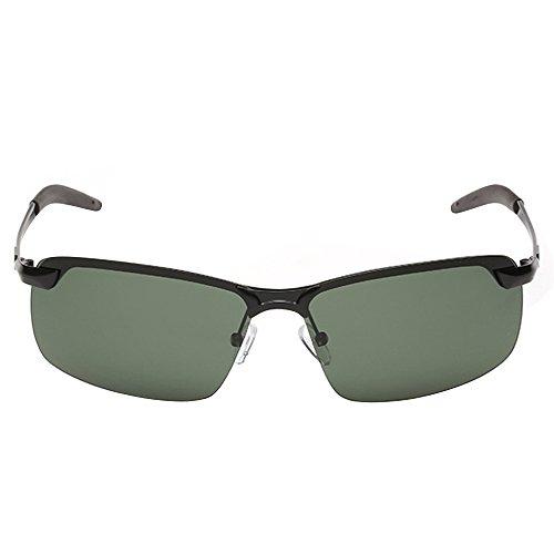 Lens Sanwood Frame noir noir Black soleil de Taille Lunettes amp;Green unique Homme OqrOxHPw