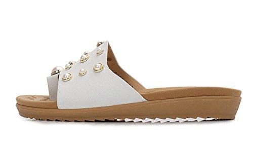 piano calzature Ricreazione donna grande Sandali alla COOL Onorevoli Moda sandali fredda White massa della fine metà ciabatte pantofole Donna Donna Casuale Sandali pantofole Estate elegante wOq7X6Z