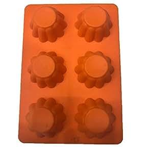 6 pcs muffins silicon cake model,size:26''18cm,food grade silicon,washable,oven use