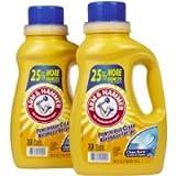 Arm & Hammer Dual HE Liquid Laundry Detergent, Clean Burst, 50 oz, 32 Loads, 2 pk