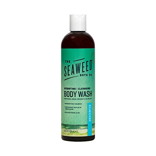 The Seaweed Bath Co. Body Wash, Unscented, Natural Organic Bladderwrack Seaweed, SLS and Paraben Free, 12oz
