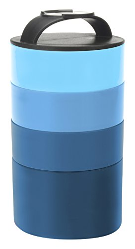 Smart Planet Smart Planet Portion Perfect Stackable Bento Meal Tower, Blue, , Blue