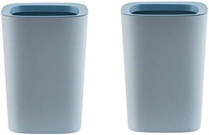 プラスチック製ゴミ箱ごみ箱、カバーのごみ箱がなければ、3.1ガロン容量のごみビンのキッチン、オフィス、ホーム、バスルーム、ベッドルーム (Color : 2-pack blue)