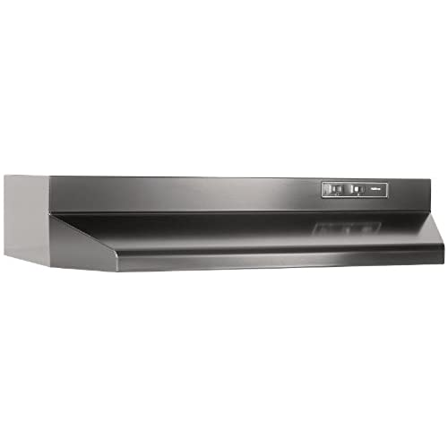 Attirant Broan F402423 Two Speed Four Way Convertible Range Hood, 24 Inch, Black