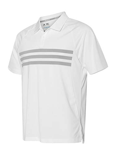 adidas Mens Climacool 3-Stripes Sport Shirt (A224) -White/Mid -L