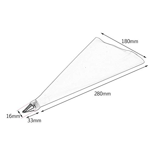 BianchiPatricia DIY 31cm Length Silicone Ice Piping Cream Pastry Bag Cake Decorating Squeeze