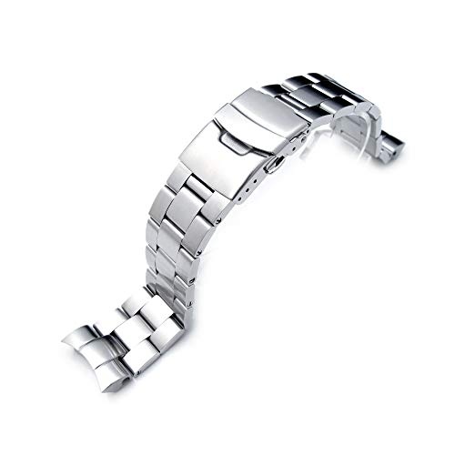 - 22mm Super Oyster Watch Bracelet for Seiko SNZF17 Sea Urchin, Diver Clasp, Brushed