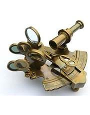 Massief messing Sextant-Nautische Gift-Astrolabe door Roorkee Instruments India