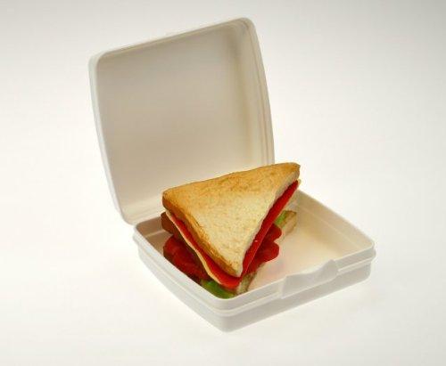 blanc Tupperware/© bo/îte pour sandwich Lunch box