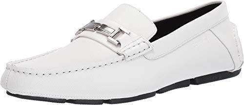 Calvin Klein Men's Magnus White Small Grid Emboss Leather 9 M US from Calvin Klein