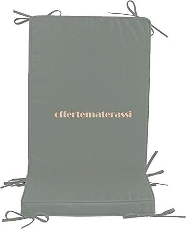 h. 6 cm Ecru EFFETTO CASA Cuscino Sedia Giardino con Schienale Medio