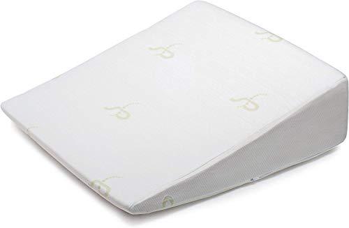 Supportiback Almohada terapeutica para la cama | Con espuma de memoria y funda lavable, disenada por medicos para el dolor de espalda y cuello, mejor respiracion y circulacion y reflujo del acido