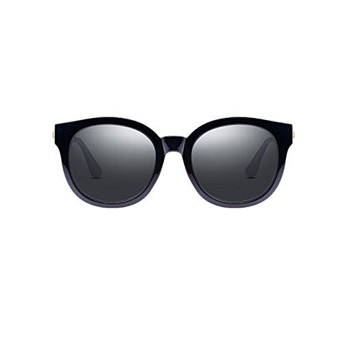 Sonnenbrille Runde Plastikrahmen weibliche Anti-Glare Anti-UV polarisierte Sonnenbrille H8zQM3