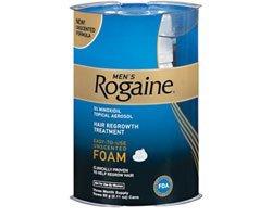 Rogaine repousse des cheveux pour les hommes 5% mousse 4pk