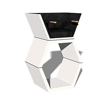 Hogar Decora Barbacoa Liber 02 máximo diseño y calidad. De hormigón bruto hidrófugo blanco y negro: Amazon.es: Hogar