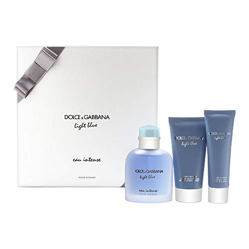 DOLCE&GABBANA 3-Pc. Light Blue Eau Intense Pour Homme Gift Set Dolce Gabbana Gift Set Gel