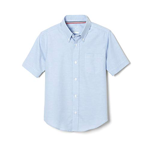 French Toast Big Boys' Short Sleeve Oxford Dress Shirt, Light Blue, 10 (Shirts Wrinkle Boys Free Dress)