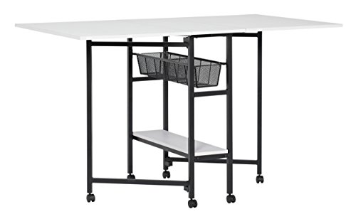 Sew Ready Standing Height Craft/Cutting Table Multipurpose Hobby and Craft Table with Storage Baskets 36