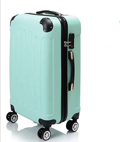 Lcslj ABS Matte Luggage Trolley case Suitcase 20 inch 24 inch Men and Women Color : Green, Size : M