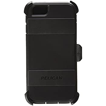 Pelican Voyager Rugged Case with Kickstand Holster for iPhone 6/6s - Retail Packaging - Black