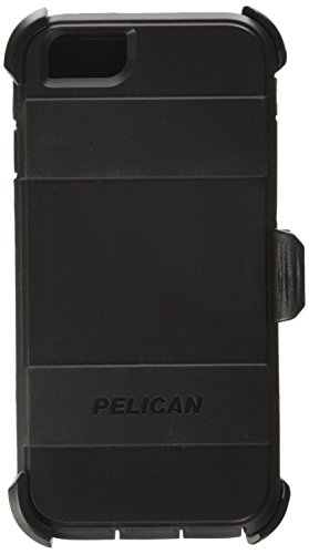 Pelican Voyager Rugged Case with Kickstand Holster for iPhone 6/6s - Retail Packaging - (Black Kickstand Case)