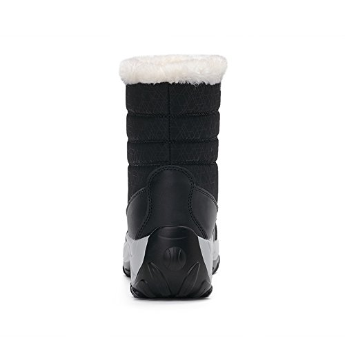 uBeauty Outdoor Warm Winter Boots Black Waterproof Snow Anti Platform Sports Boots Skid Women Boots rqXITx4r