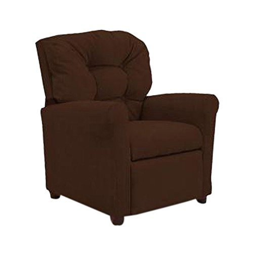 - Dozydotes 4 Button Kids Child Recliner Chair - Chocolate Micro Suede