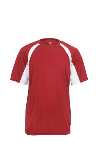 badger-sportswear-mens-hook-performance-tee-red-white-large