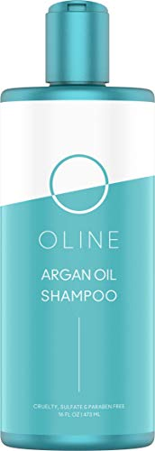 Oline Naturals Argan Oil Shampoo Sulfate free, (16 oz/473 ml) Dry Shampoo Moroccan Argan Oil Shampoo for Men and Women & Color Treated Hair & Hair Strengthener