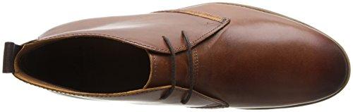Clarks Novato Mid - botas de cuero hombre Cognac Leather