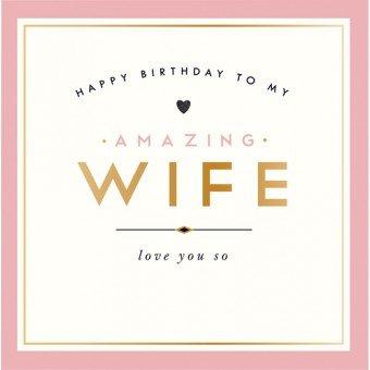 Alice Scott tarjeta: Feliz cumpleaños amazing esposa ...
