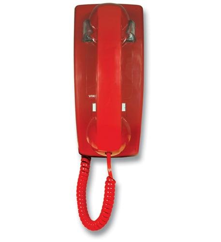 Viking Electronics K-1900W-2 Hot Line Wall Phone - Red - 2 Hot Line Wall Phone