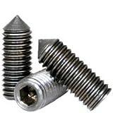 Set Screws, Cone Point, 10-32 x 1/2'', Alloy Steel, Hex Socket, (Quantity: 50) Fine Thread, 10 Grub/Blind/Allen/Headless Screw, Length: 1/2 inch