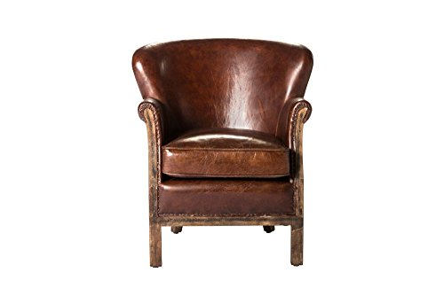 Abbey Club Chair - Brown Dimensions: 25''W x 30''D x 29.5''H Weight: 35 lbs by Moe's Home Collection