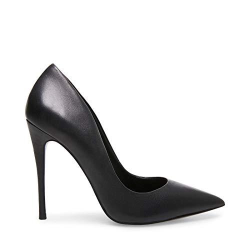 Steve Madden Women's Daisie Dress Pump, Black Leather, 9.5 M US