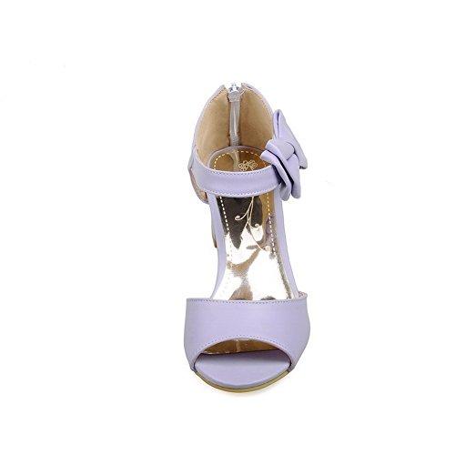 Heel BalaMasa Sandals Heel Urethane Purple Sandals Kitten Kitten Womens ASL04786 taaqPv
