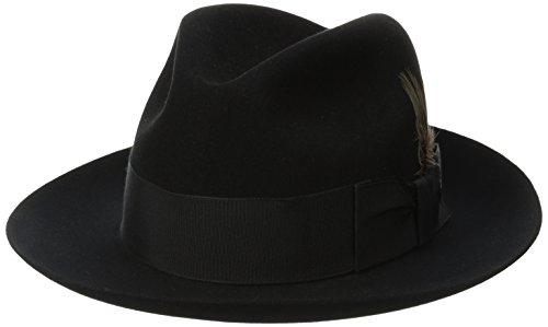 Stetson Mens Sttson Temple Royal Deluxe Fur Felt Hat Black 7375