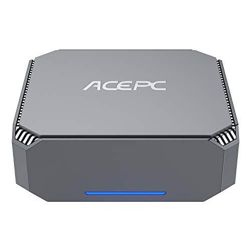 ACEPC Mini PC, 6GB DDR3/ 120GB Rom Intel Celeron J3455 Processor Windows 10 Pro (64-bit) Mini Desktop Computer with…