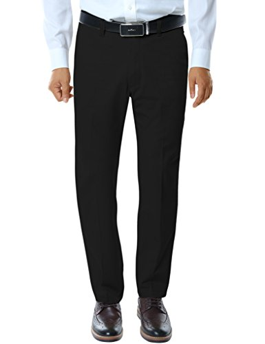 Match Men's Straight-Fit Work Wear Casual Pants(34W x 32L, 8033 Black) (Casual Pants For Men compare prices)
