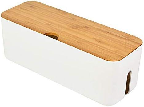 SODIAL la Caja de Almacenamiento de Cable Caja de Cable de Regleta Organizador de Enchufe Cargador de Anti Polvo Bin de Almacenamiento de LíNea de Rojo de Escritorio Blanco: Amazon.es: Hogar