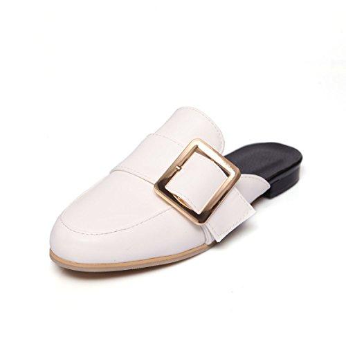 Donna Tacco bianco QIN Sandali amp;X Piatto Informale wHxBRxa