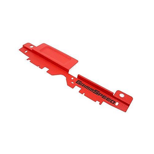 GrimmSpeed 05-09 Subaru Legacy/Outback Radiator Shroud w/Tool Tray - Textured Red (96032)