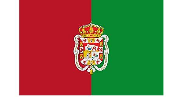 Banderas Online - Bandera de Granada con escudo Tamaño 200x120 para exterior: Amazon.es: Deportes y aire libre